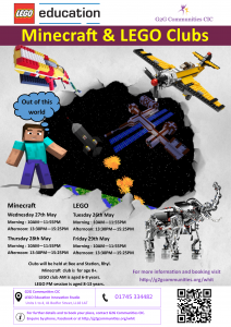 Minecraft and LEGO club poster Rhyl